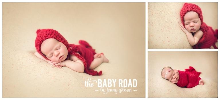 Roseburg Oregon Newborn Photographer baby girl in red